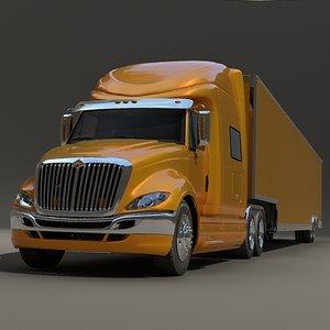 heavy truck trailer 3d model