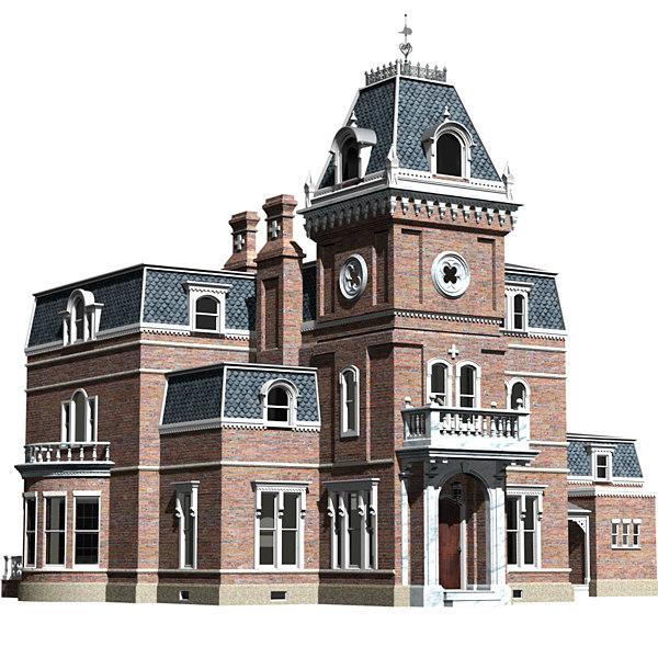 mansion victorian 3d lwo