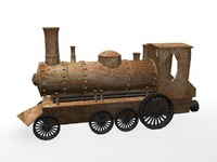 3dsmax train engine locomotion