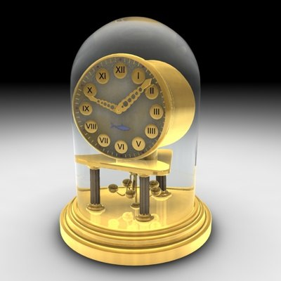 3d clock mantlepiece model