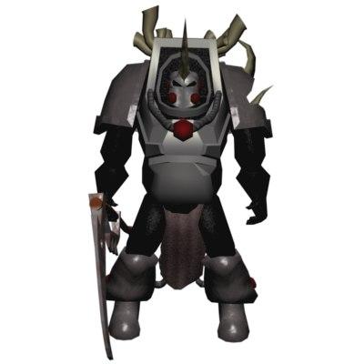 chaos lord mech warrior 3d 3ds