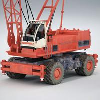 mobile crane 3d max