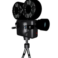 cartoon movie camera 3d model