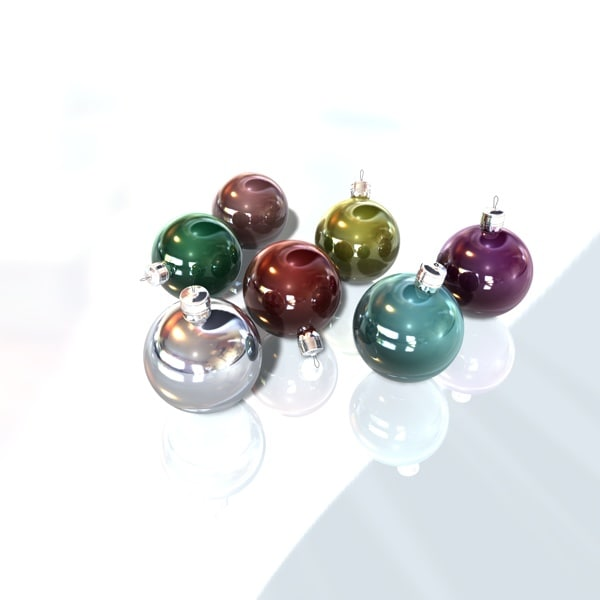 3d model christmas decorations