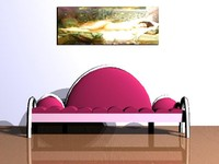 modern pink 3d obj