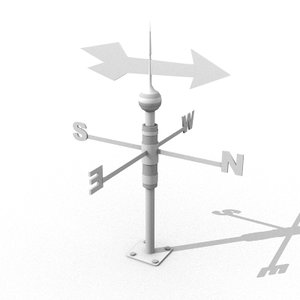 weather vane wind 3d obj