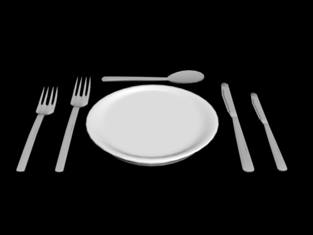 3d dinner set