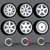 3d compomotive wheels model