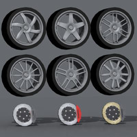 3d model of enkei wheels