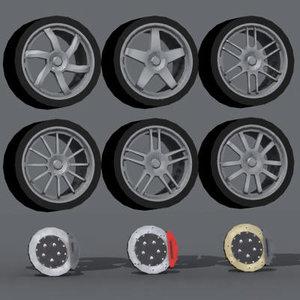 3d model of enkei wheels