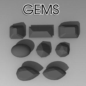 3d model gem cuts
