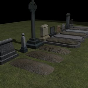 3ds max grave dirt