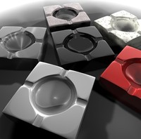 ashtray 3d c4d