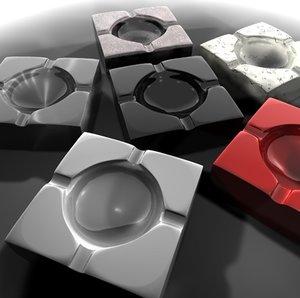 ashtray 3d c4d