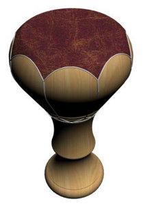3d model african drum