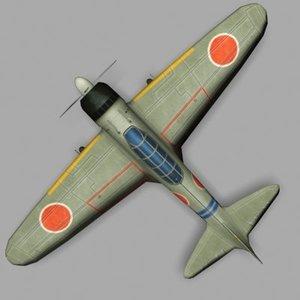 mitsubishi zero fighter 3d max