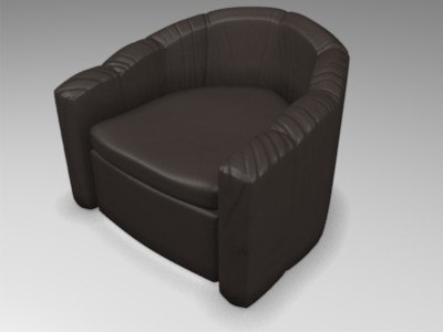 leather armchair blend free