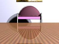 PinkDecoChromeChair.zip