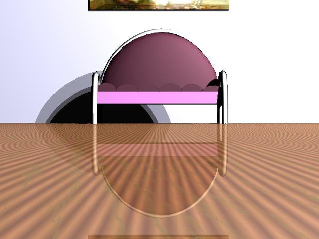 modern pink deco chrome obj