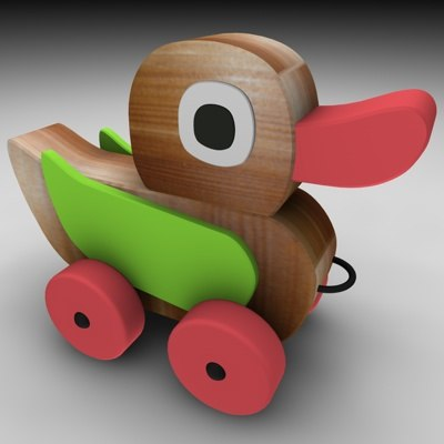 3ds max wood duck
