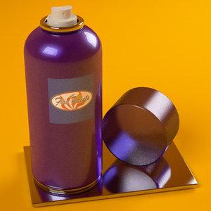 3d model spray mxm materials