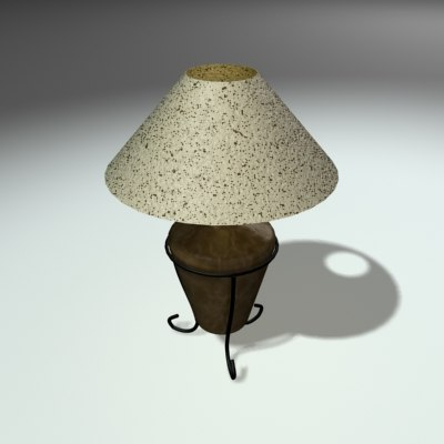 3d leather lamp