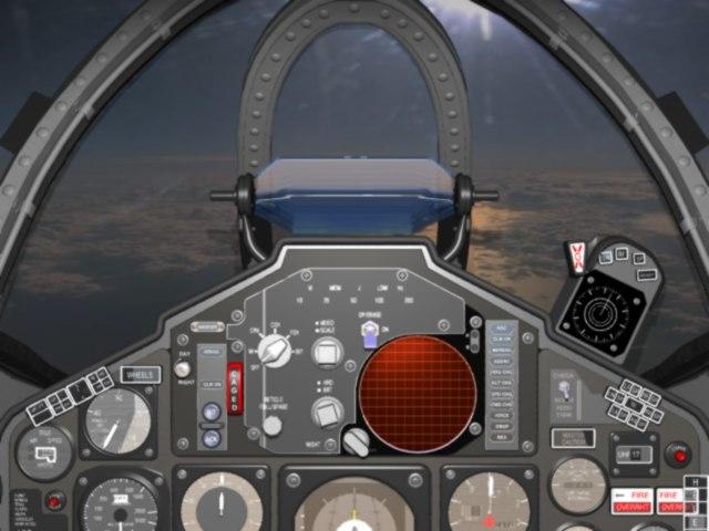 f4 phantom fighter cockpit 3d model