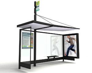 bus shelter architectural 3d model