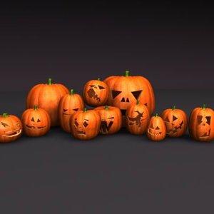 halloween pumpkins 3d max