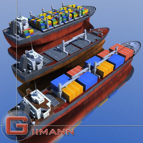 cargo vessels 3d 3ds