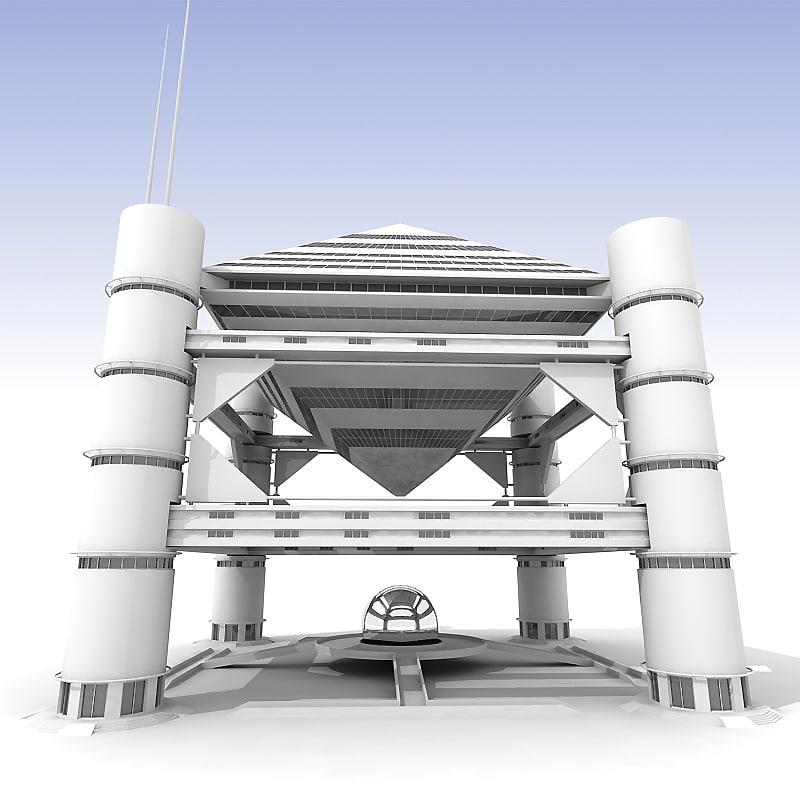 maya futuristic building