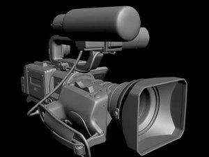 3d model of jvc hdv camcoder