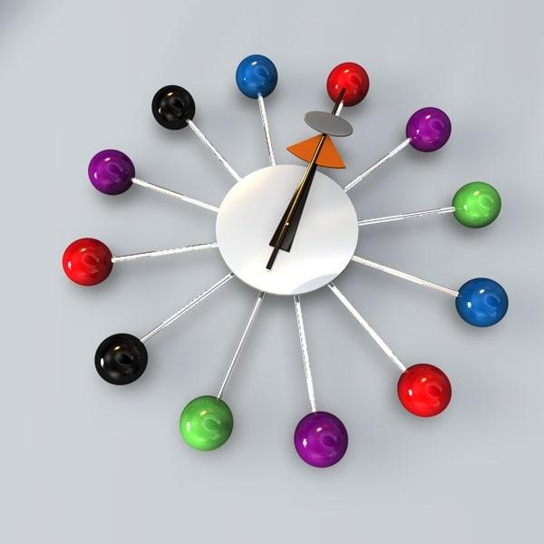 modern clock 3d c4d