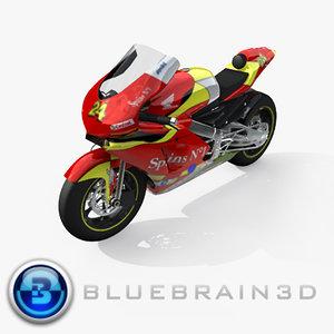 2006 honda moto gp 3d model