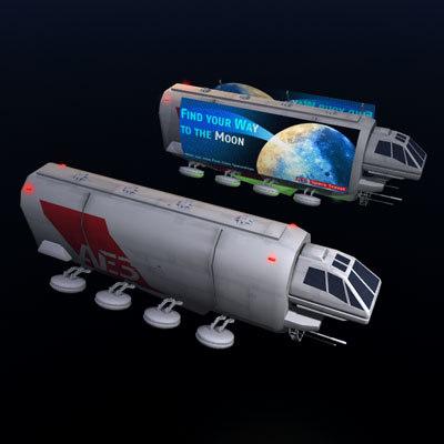 sci-fi truck 3d 3ds
