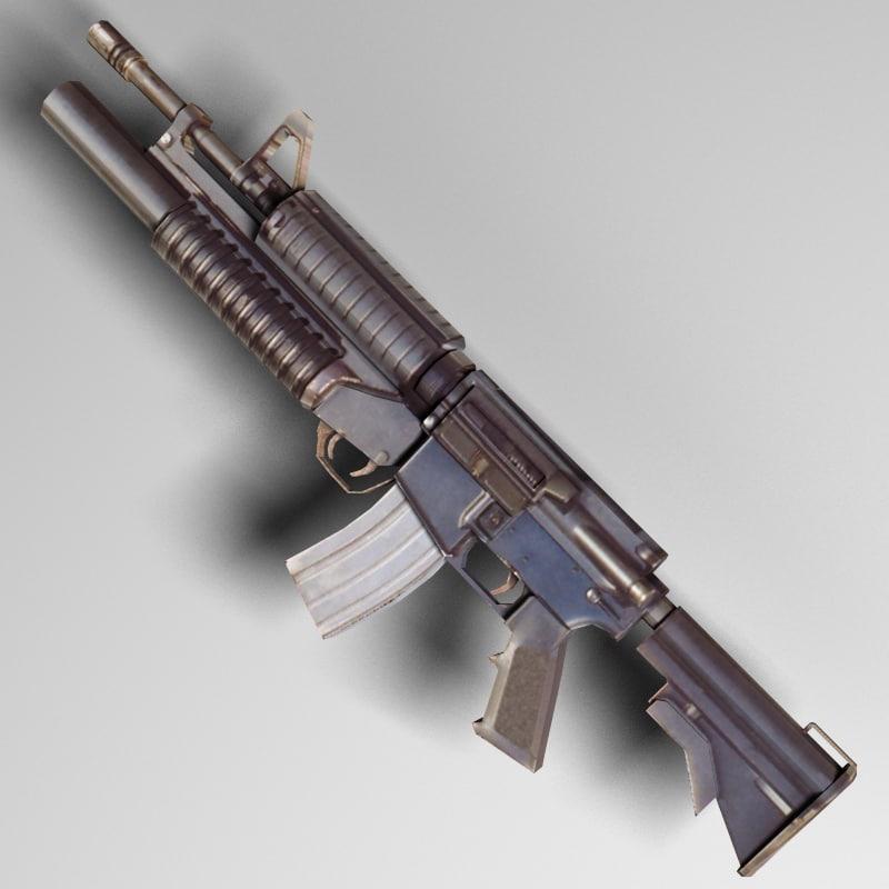 rifle m4 a1 3d model
