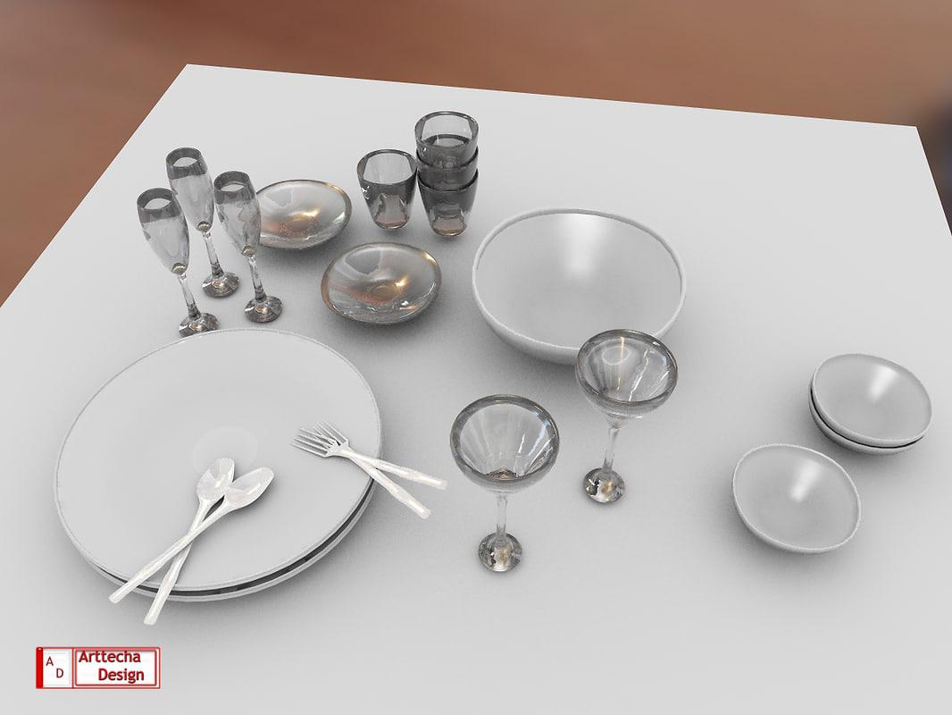 3d model kitchen set
