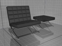 Chair and hassock Tekno