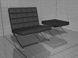 3ds max chair hassock tekno