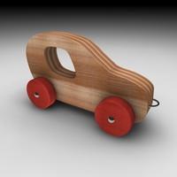 c4d wood car