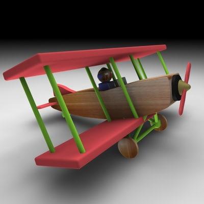 3dsmax wood airplane