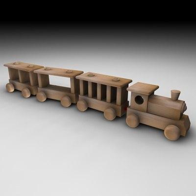 3dsmax wood train