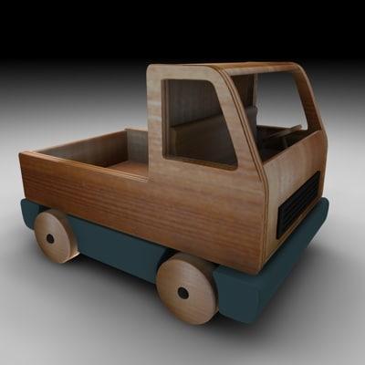wood truck 3d 3ds