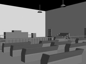 tribunal scene 3d max