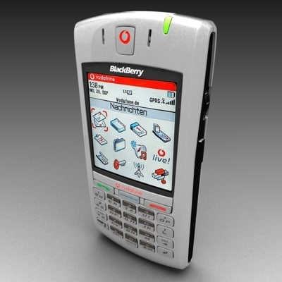 free vodafone blackberry 7100v polygonal 3d model