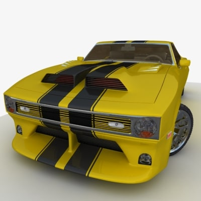 3d tuned chevrolet camaro z28 model