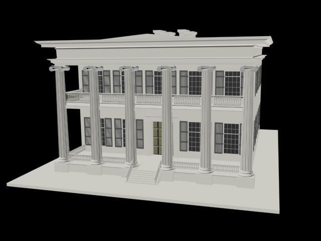 greco-roman building 3d 3ds