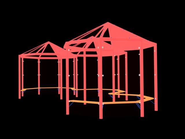 glass pavilion 3d 3ds
