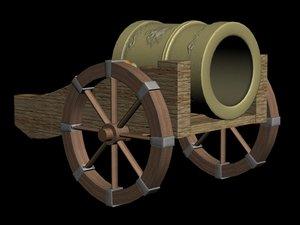 3d antique mortar