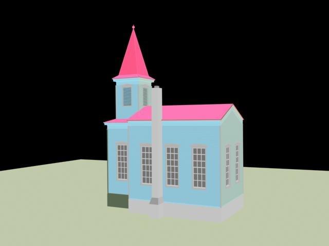 church building 3d 3ds